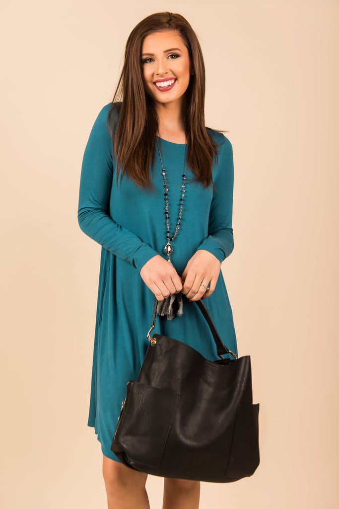 Wine And Dine Dress, Teal
