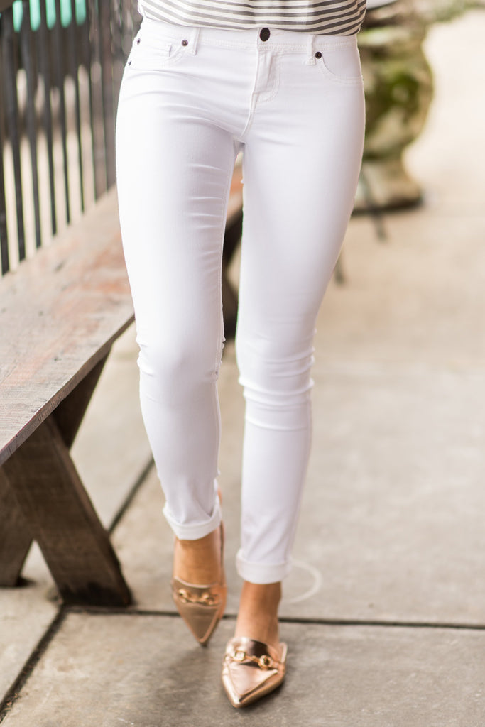 The Valarie Jeggings, White