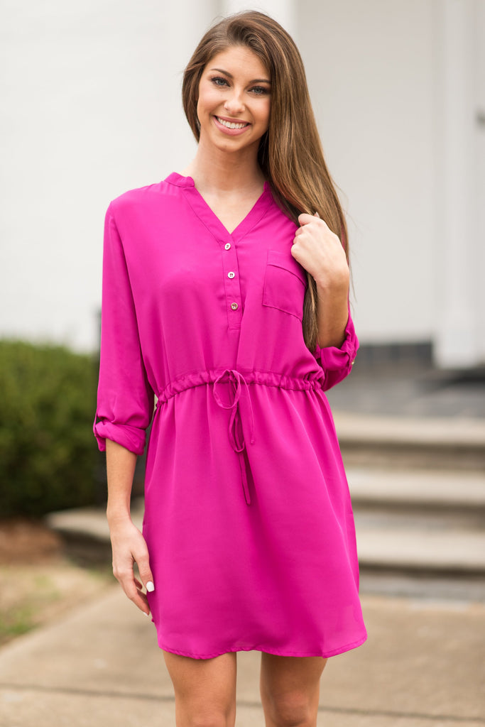 Close To Me Dress, Magenta