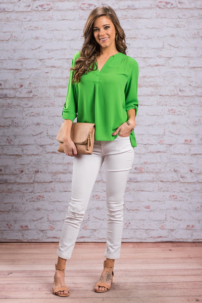 Color Pop Rocks Top, Green