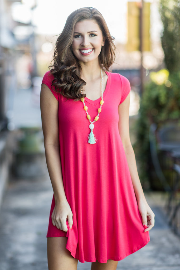Main Street Traveling Dress, Coral