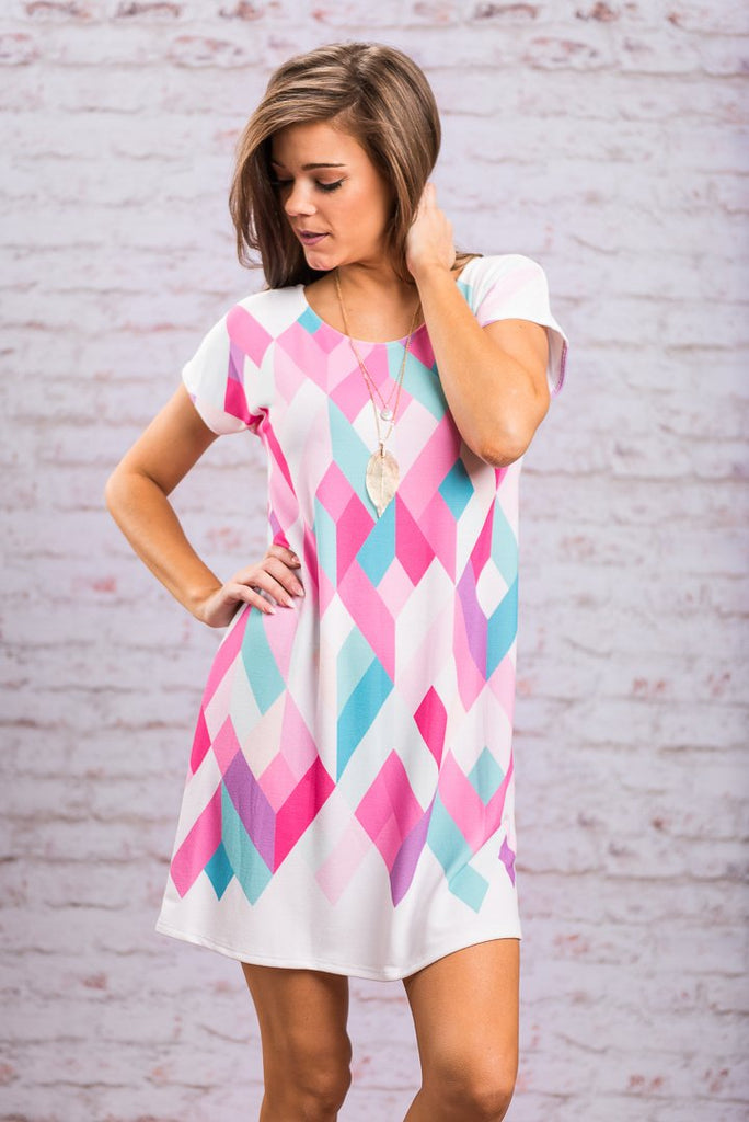 You And I Kaleidoscope Dress, Pink