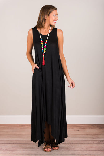 It All Makes Sense Maxi Dress, Black