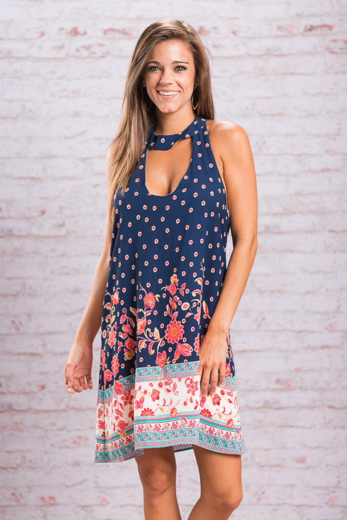 Oh What Fun Dress, Navy