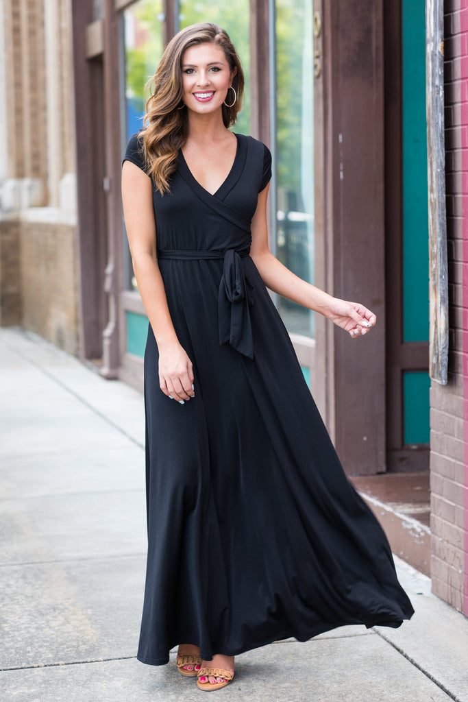 Like A Charm Maxi Dress, Black