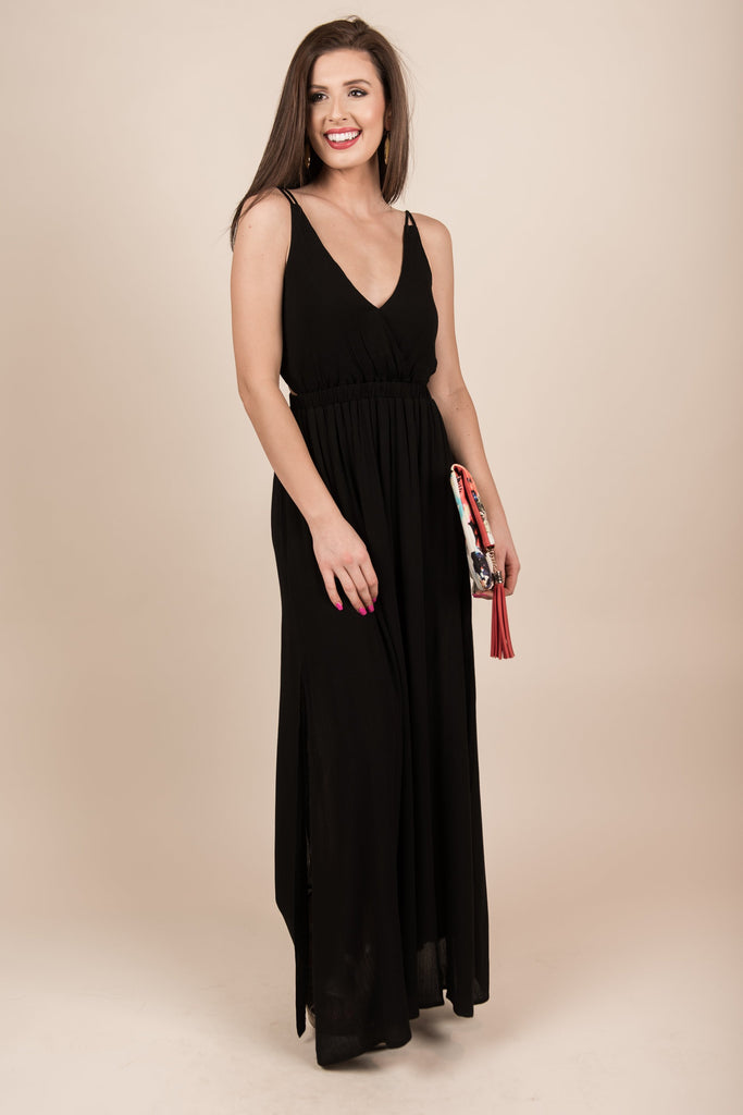 Talks To Angels Maxi Dress, Black