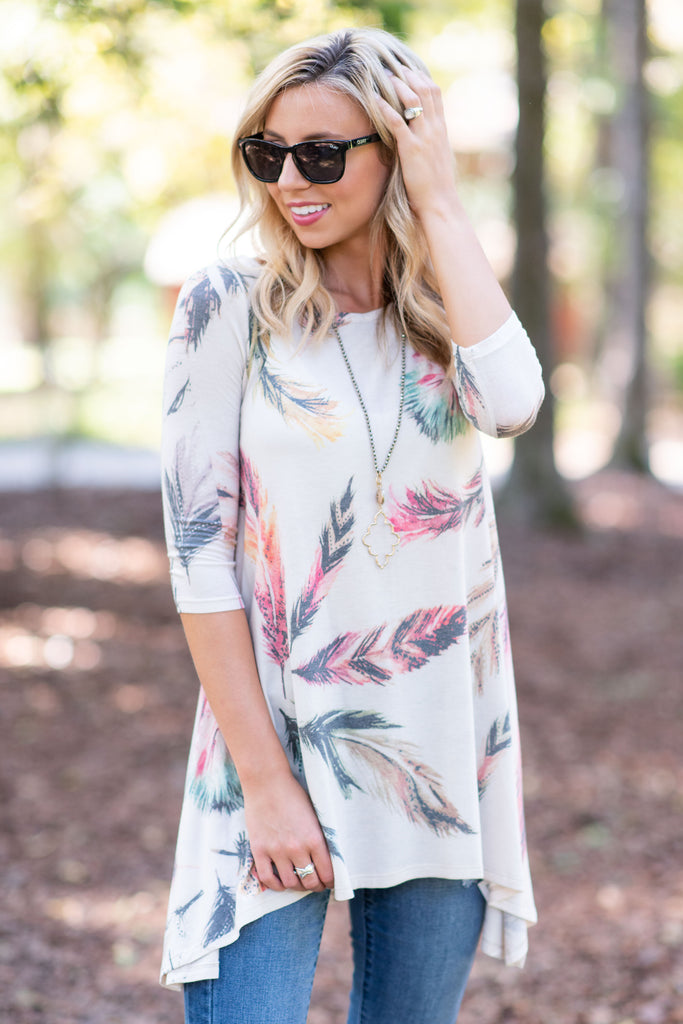 Fly Fly Away Tunic, Natural