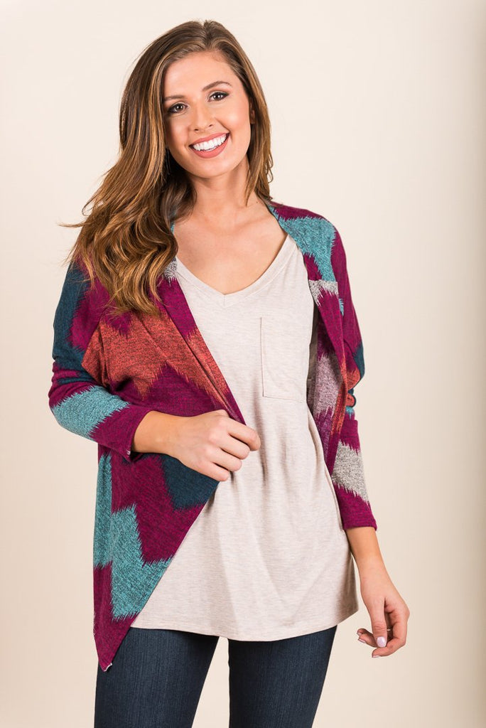 Oh Happy Day Cardigan, Magenta