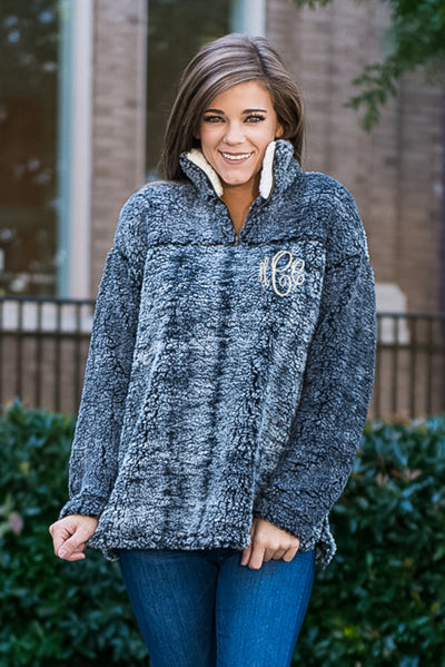 Fur Frenzy Pullover Jacket, Black
