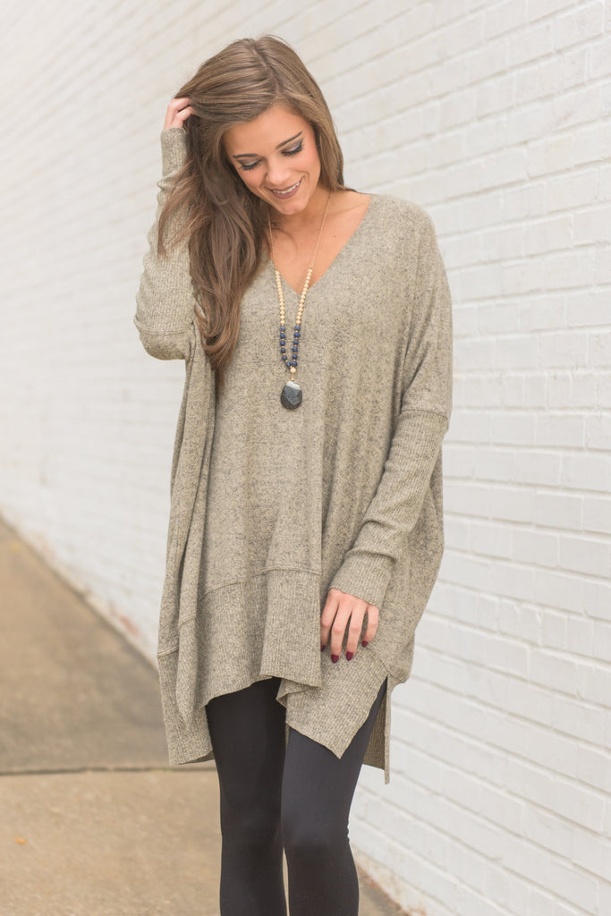 Calling My Name Tunic, Taupe