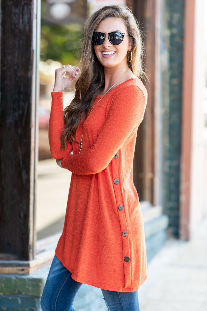 By Your Side Tunic, Orange