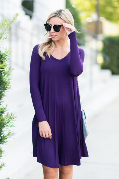 Sweeter Than Dessert Dress, Plum