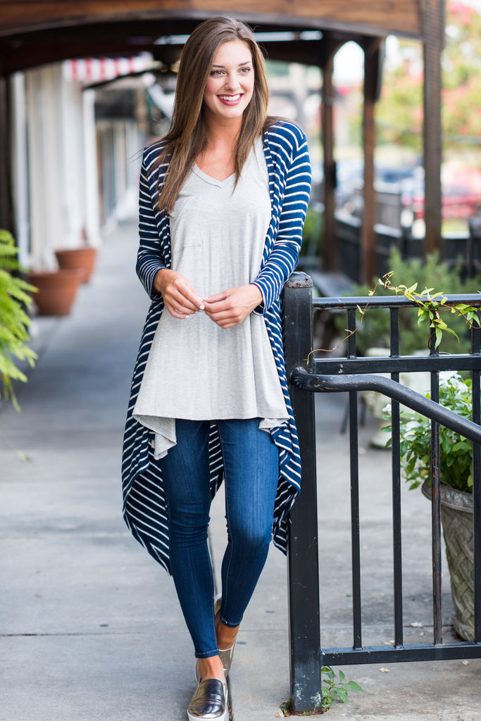 Oh So Perfect Cardigan, Navy