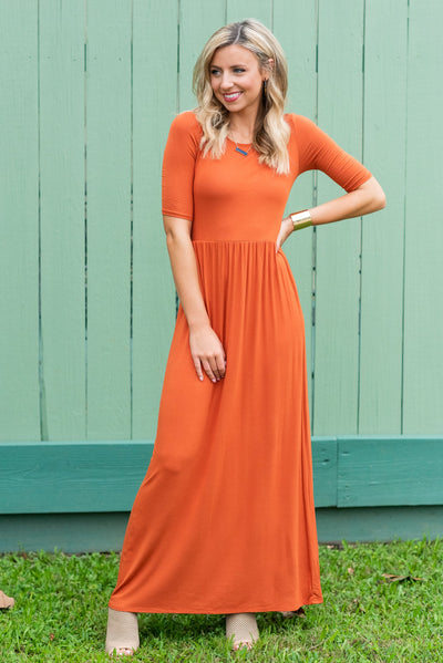 On The Lookout Maxi Dress, Rust