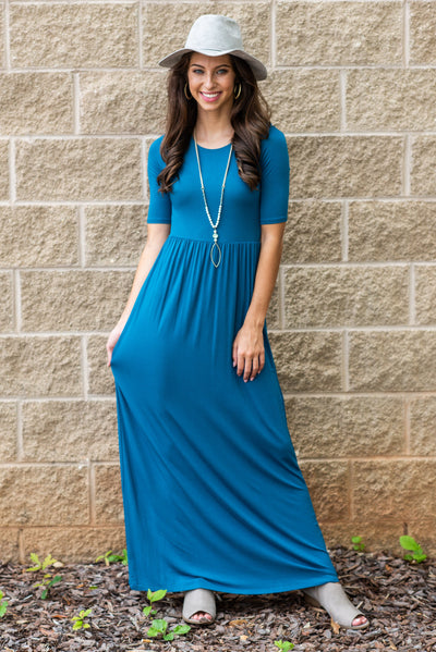On The Lookout Maxi Dress, Teal