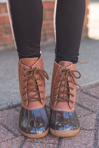Rain Or Shine Boots, Brown