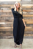 Twisted Fete Maxi Dress, Black