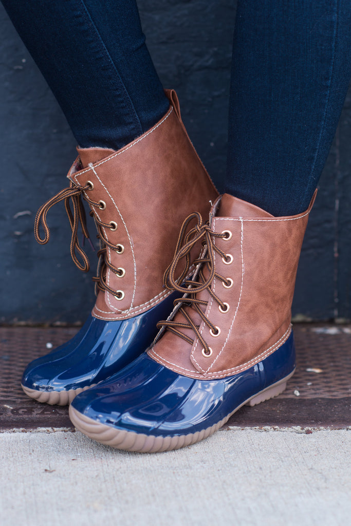 Rain Or Shine Boots, Navy