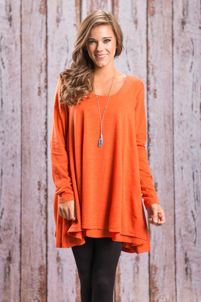 Lightly Layered Tunic, Orange