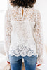 bubble sleeve lace blouse