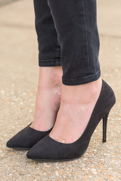 Point Of Return Heels, Black