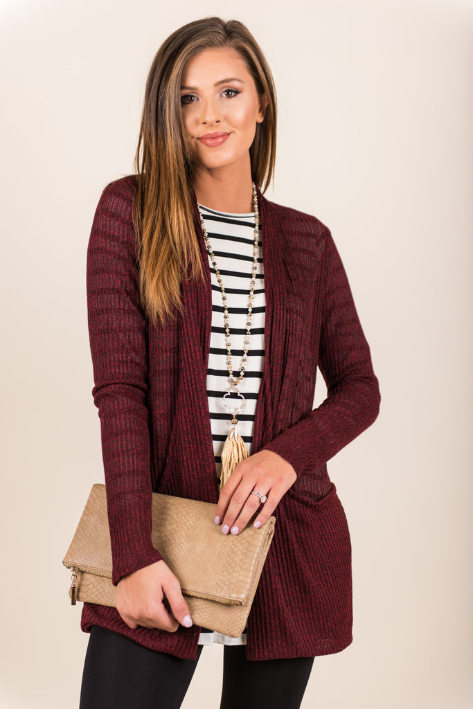 Sweet and Slouchy Cardigan, Wine