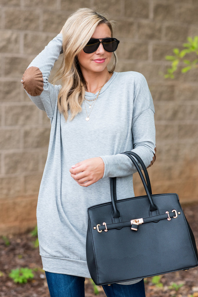 Smart Choice Tunic, Heather Gray