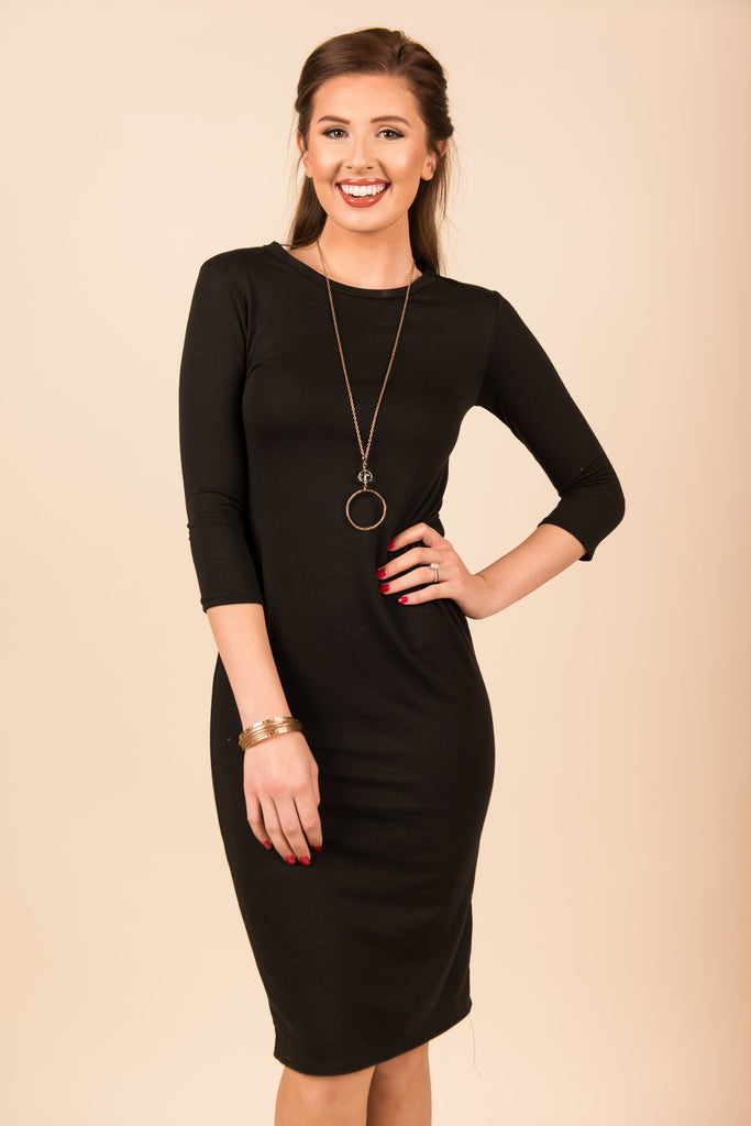 Never Walk Away Dress, Black