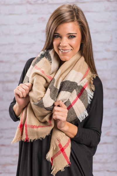 Dreamy Fall Days Scarf, Taupe