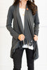 Can We Be Fringe Cardigan, Heather Gray