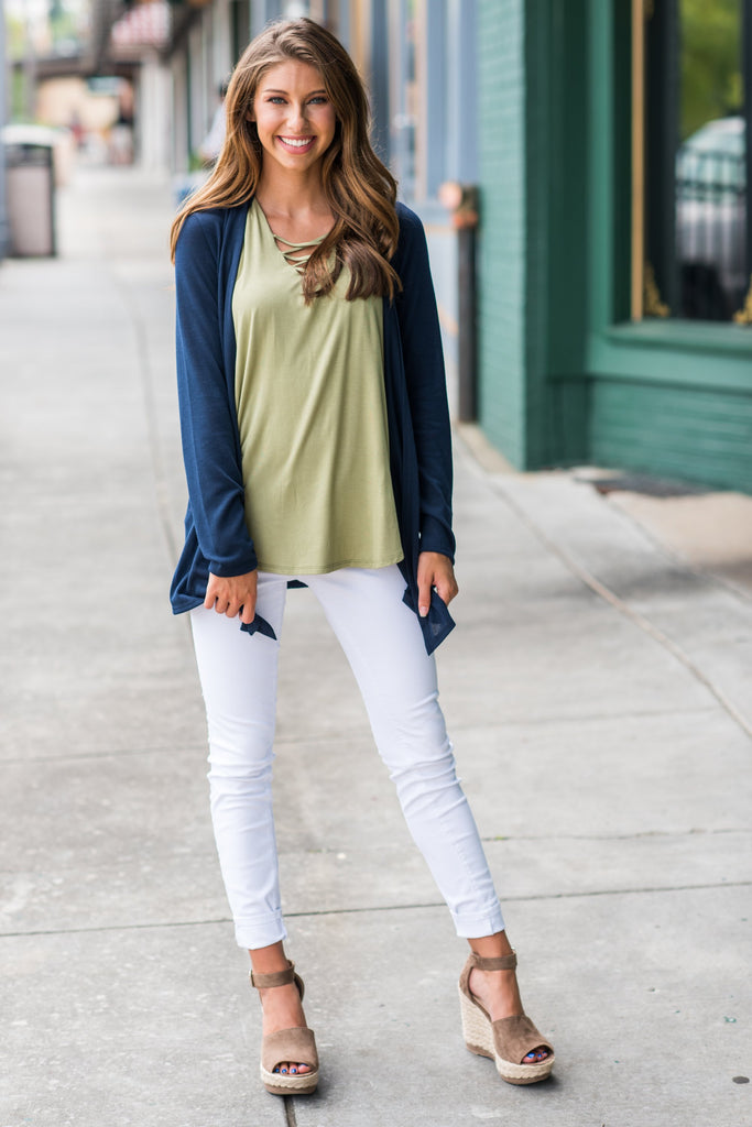 Undeniable Cardigan, Navy