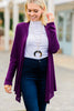 soft, long sleeves, cardigan, purple cardigan