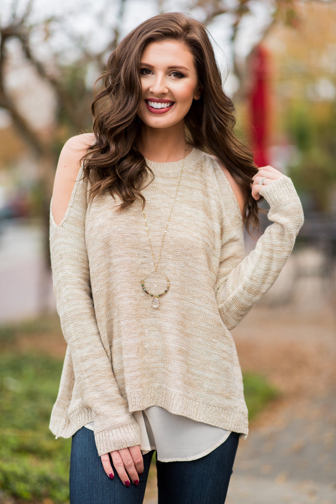 All Is Well Sweater, Taupe