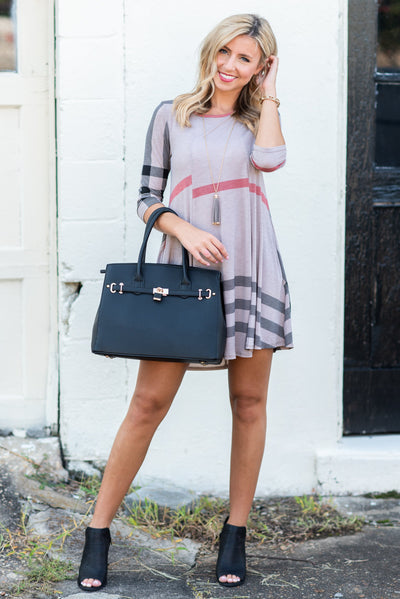Prep Rally Dress, Taupe