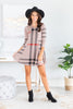 Prep Rally Taupe Plaid Dress