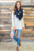 top, fall, winter, casual, long sleeve, solid, buttons, flowy, conservative, christmas, ivory, neutral, scoop neckline