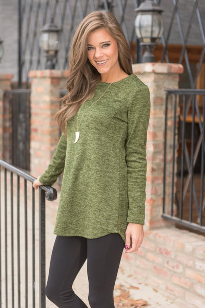 Snuggle Up Top, Olive