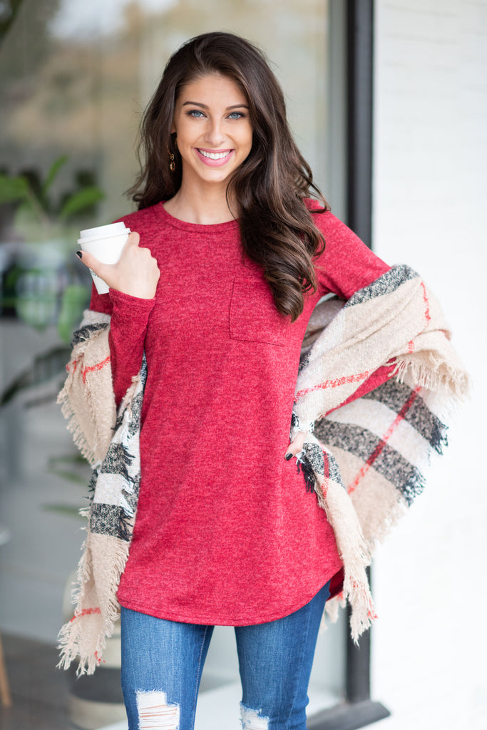 Snuggle Up Top, Red