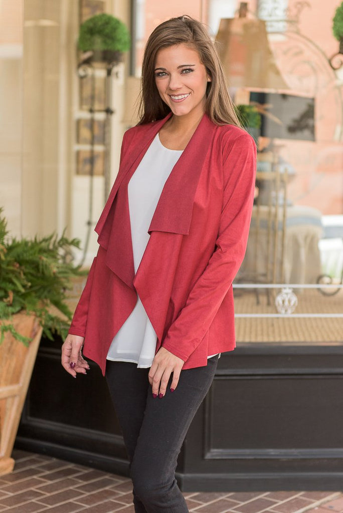 Suede Me Jacket, Burgundy