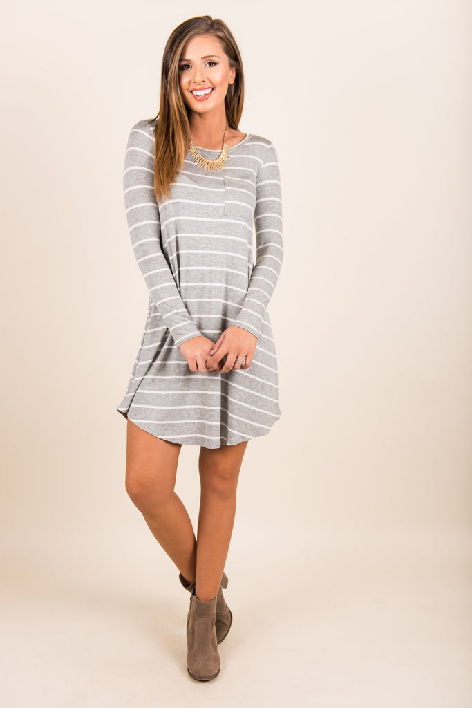 Fab Finds Dress, Heather Gray