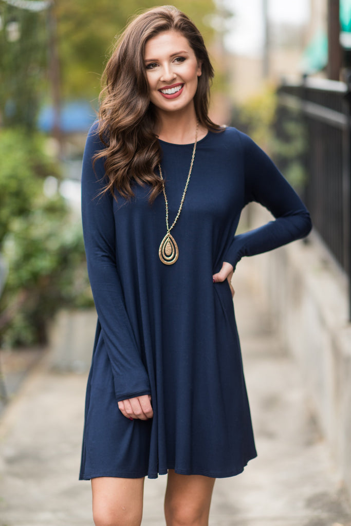 Wine And Dine Dress, Navy