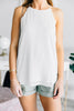 Love Letter Off White Scalloped Tank