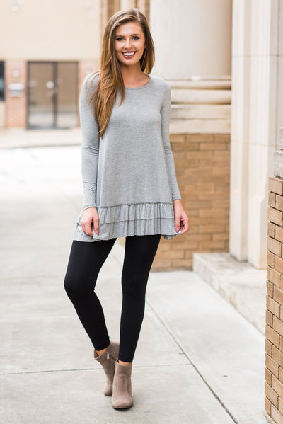 Care To Unwind Tunic, Heather Gray