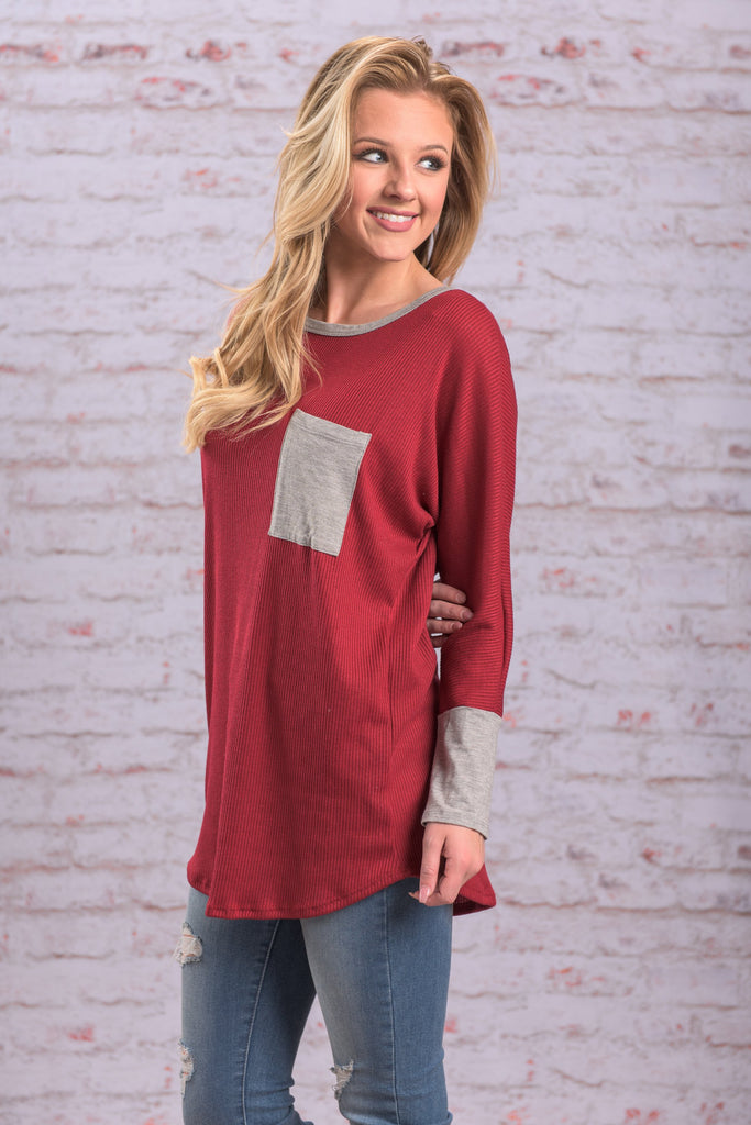 Living For Love Tunic, Red