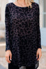 Get It And Go Leopard Tunic, Black-Gray