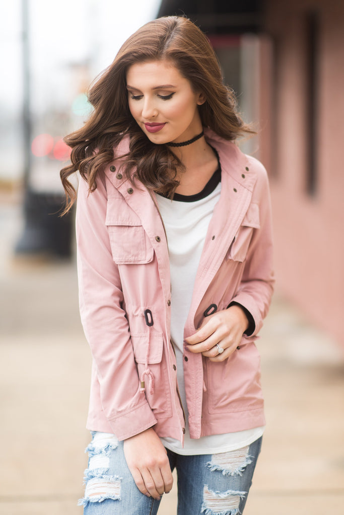 Want You To Know Jacket, Mauve