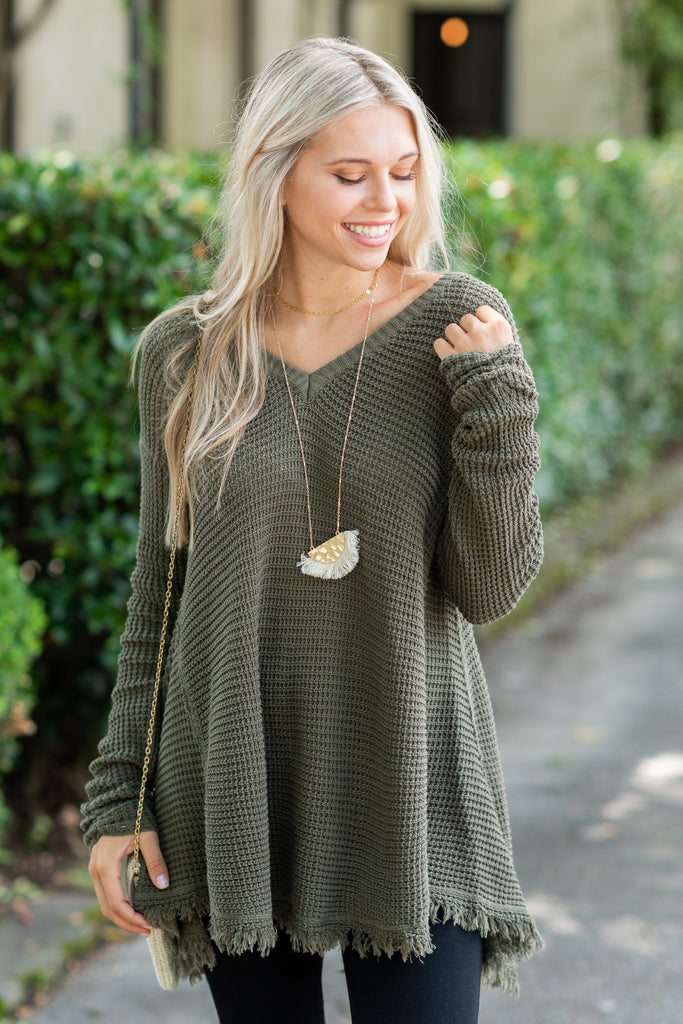 Too Irresistible Sweater, Olive