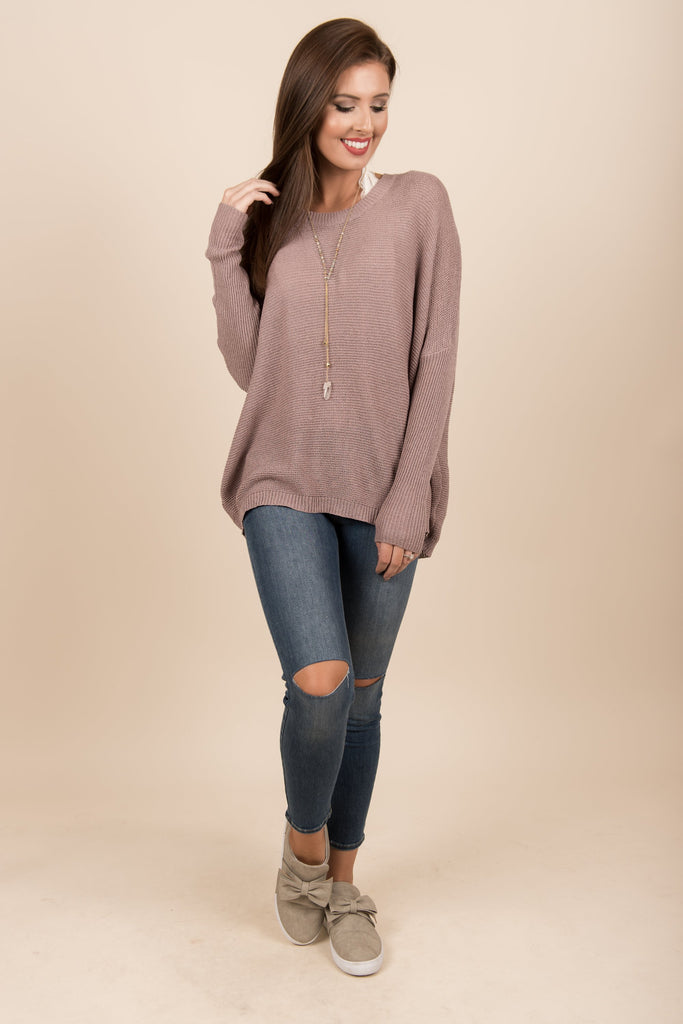 Just Breathe Sweater, Dusty Lavender