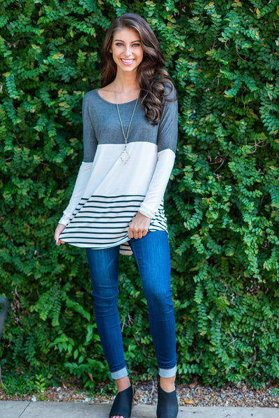 Presh Air Tunic, Charcoal