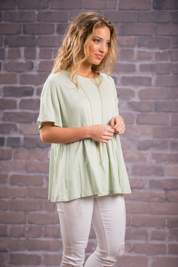 Sweet Secrets Top, Seafoam